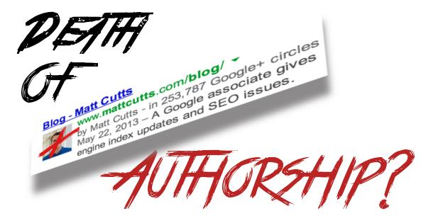 Google Authorship Dead in 2014?